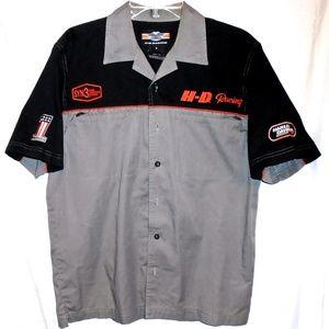 Harley Davidson Racing Men's Button Shirt